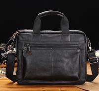 Free shipping   new  fashion  genuine leather  men's  handbag  briefcase  shoulder  bag