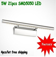 21PCS SMD5050 5W LED mirror lamp, hot, free shipping by HK  DHL/UPS/FEDEX/TNT