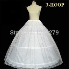 envío gratis: 3 aros falda de novia blanco con borde de encaje(China (Mainland))