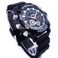 New watch camera W1000 1920x1080P Full HD 3ATM Waterproof IR Night Vision PC Camera 4GB/8GB/16GB Watch camcorder free shipping