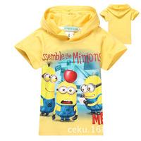 Children's clothing kids summer boys girls 2014 sportswear cartoon T-shirt   Sport suit coat children hoody E80