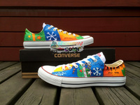 Low Top Converse Shoes ED Sheeran Canvas Shoes Hand Painted Sneaker Women Men Gifts For New Year