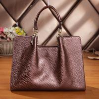 Free Shipping 2014 New High Quality 100% Genuine Leather Handbag Women cowhide casual Shoulder messenger Bag Fashion totes