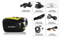 Germany Shipping MINI HD 720P Sport DV DVR 1.3MP Waterproof Outdoor Action Camera 120 Angle Up to 32G TF Card Bike Camcorder