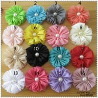 Infant Baby Chiffon Flower Hair Accessories,Girls DIY Headband Flowers No Clips,Children Flower Accessories,TH036+Free Shipping