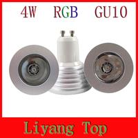 4W GU10 RGB LED Spotlight Light Bulb 16 Colors RGB Change 110V/220V with Remote For Home Party Cristmas Decoration Lighting