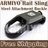 Armiyo Airsoft Rail Steel Swivel Sling Buckle Attachment Mount Black Large Shooting Fit 2nd 3rd Generation Hunting Mission Sling