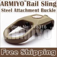 Armiyo Binoculars Rail Swivel Buckle Metal Attachment Mount Dark Earth For 2nd 3rd Generation Camera Strap Mission Hunting Sling