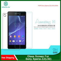 MOQ 1PC For Sony Xperia Z2(L50) NILLKIN Amazing H Nanometer Anti-Explosion Tempered Glass Screen 9H Protector Film