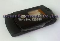 Black Full faceplates mobile phone housing for motorola v3 cellphone replacement cover repair case panel frame+keypad+spare part