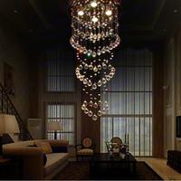 Free shipping big chandelier D40cm*H120cm modern crystal chandelier bedroom