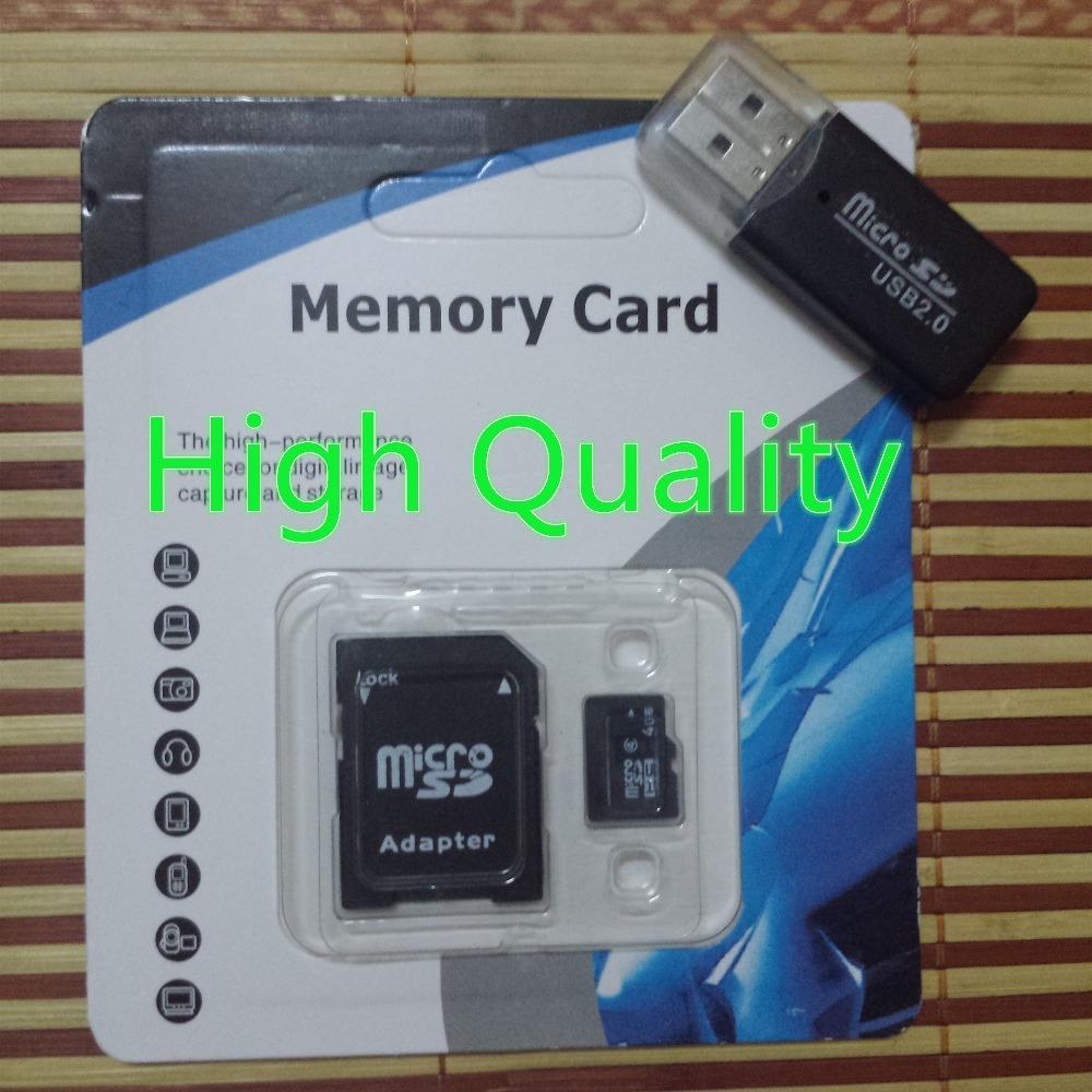 memory card micro sd 16 gb 8GB 4gb 2gb 1gb 32gb 64gb TF card with card reader and adapter(China (Mainland))