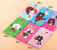 Cute cartoon Bear Rabbit Lovers Couples case for Samsung Galaxy Note 3 Soft TPU gel cover