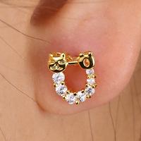EJ-0016, 2014 popular fashion copper jewelry 18k gold plated Earring Brincos bijoux earrings design