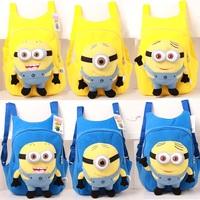 Despicable Me 2 Large Minion Plush 3d Cartoon Bag Kids Backpack Child School Bag Gift For Kids Girls Boys Mochila Infantil