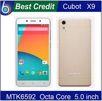 Original Cubot X9 Mobile Phone 5.0 Inch IPS MTK6592 Octa Core 1.4GHz 2GB RAM 16GB ROM Android 4.4 3G 13.0MP Gold Dual SIM/Eva