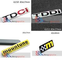 2pcs Mountune M TDCI 3D Aluminum Alloy 3D Badge Emblem