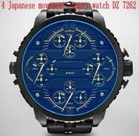 wholesale mens watches top brand luxury DZ 7262 fashion casual leather strap watch military men quartz dress watches