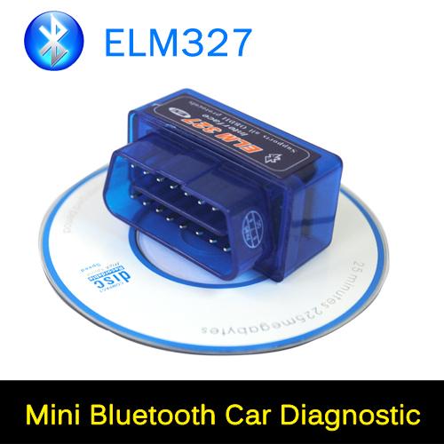 Original latest V2.2 Mini Car Diagnostic Tool ELM 327 OBD2 Bluetooth Interface Auto Scanner OBD-II for Android Windows Symbian(China (Mainland))