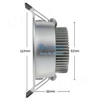 5W Ceiling Downlight LED Ceiling Lamp Recessed Spot Light 85V-265V For Home illumination Cold White #005 SV003014