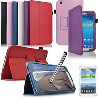 High Quality PU Leather Stand Cover Case For Samsung Galaxy Tab 3 8.0 inch T310 T311 T315 +Stylus Pen As Gift  Free Shipping