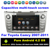 Pure Android 4.2 HD 2 din 8 inch Car DVD GPS Navi for Toyota Camry 2007-2011 With 3G/WIFI Bluetooth IPOD TV Radio / RDS AUX IN