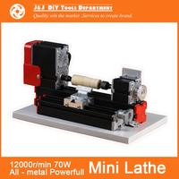 Powerfull Mini Metal Lathe Machine with 12000r/min, 70W  Motor ,DIY Tools as Chrildren's Gift.