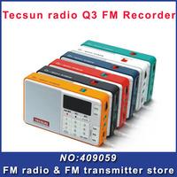 Tecsun Q3 FM radio  broadcast recorder digital audio player portable radio mini speaker Free Shipping