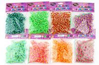 "Segment color Rubber Bands DIY Loom Bracelet Amazing Gift for Children popular all over world 300 PCS 12 PCS ""S"" wholesale"