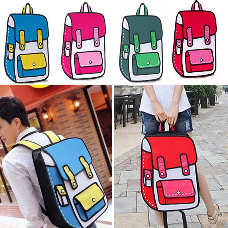 Canvas Gismo 2D 3D Cartoon Bag High Quality Shoulder Messenger Bag Comic Bag Carry In Space(China (Mainland))