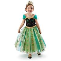 New Arrival 2014 summer new green evening Forzen girls dress fantasy princess dress children beautiful quanlity dress ELSA ANNA