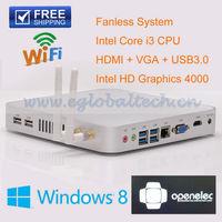 Pre-installed Windows or Linux Ubuntu OS HDMI HTPC Mini ITX Desktop Computers Intel Core i3 4GB RAM 500GB HDD Wireless Micro PC