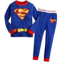 2014 New 2 pcs set baby boy girl kids sleepwear suits toddler superman pajama Children long sleeve pajamas set