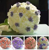 Purple Rose Wedding Bouquet Simulation group holding flowers bridesmaid / wedding wedding gift / studio photography photo 149
