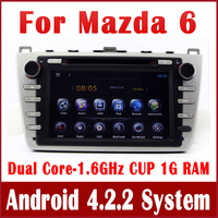 Android 4.2 Car DVD Player for Mazda6 Mazda 6 2008-2013 with GPS Navigation Radio BT USB DVR 3G WIFI Video Stereo Tape Recorder