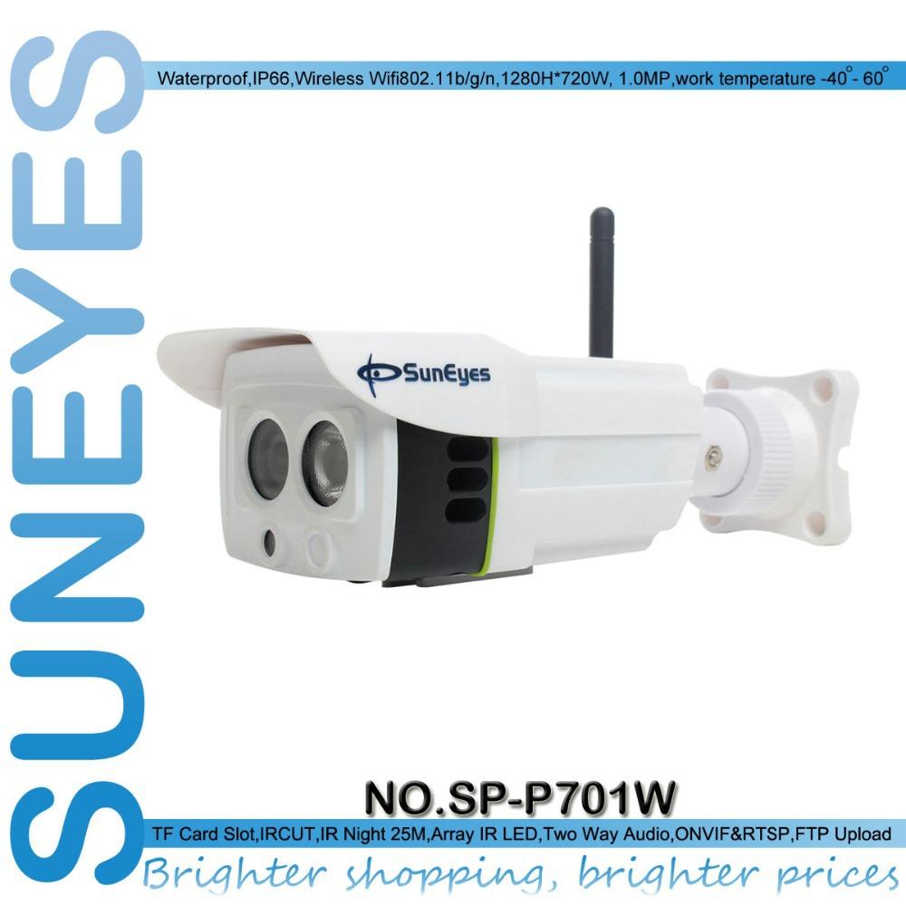 SunEyes Wireless IP Camera Outdoor 720P HD with Micro SD Card Slot(China (Mainland))