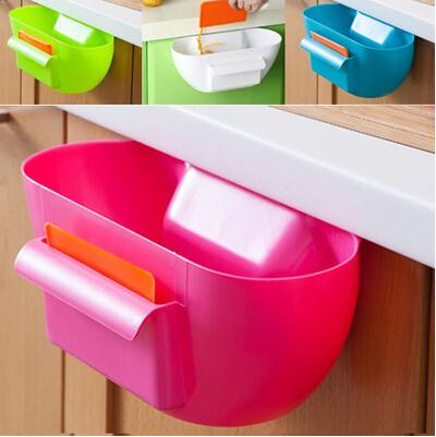 NEW 2014 Japanese-style storage ideas kitchen cabinet door racks kitchen surfaces garbage storage box plastic box(China (Mainland))