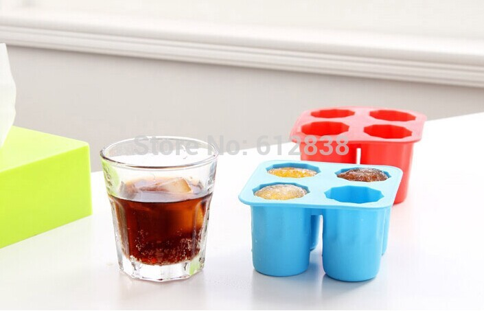 Free Shipping Ice Cube Tray Mold Makes Shot Glasses Ice Mould Novelty Gifts Ice Tray(China (Mainland))