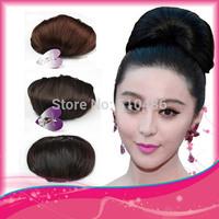 Fashion Women and Girls synthetic hair bun chignon clip in bun hair High quality heat-resisting fibres,Make you more elegant