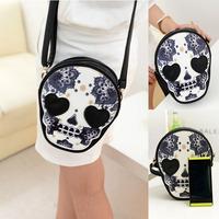 Bolsas femininas 2014 mini-package punk skull print high quality women leather handbags brand, desigual  women messenger bags