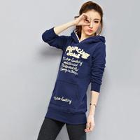 New 2014 Spring Autumn Women Sweatshirt Fashion Sport Suit Pullover Hoody Fleece Warm Girls Hoodies Winter Clothing
