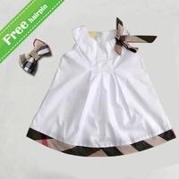 UK Brand 2015 baby girl dress kids plaid summer girls dresses princess dress child sleeveless clothing
