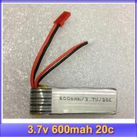 10pcs/lot 3.7V 600mAh 20C li-po lipo batterie akku Battery for Rc R/c helicopter MOdel+register free shipping