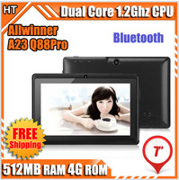 Bluetooth 7 inch A23 Dual camera Tablet 7 Allwinner a23 Tablet PC Touch Screen Capacitive Dual core WIFI OTG 512M 4G Android 4.2
