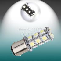 2pcs  1157 BA15D 1142 P21W 18 SMD 5050 13 LED Brake Tail Turn Signal light Bulb Lamp white Auto led car light source