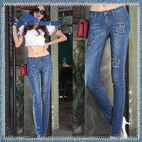 Hot Quality Women's Soft Denim Long Cubit Rabbit Pattern Sexy Jeans Pants Trousers For Woman Ladies Girls