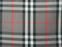 Pf17 Checked Cotton herringbone twill fabric cloth textile large tartan grey color retail or wholesale