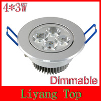 12W 4x3W 110V Warm White Dimmable LED Recessed Cabinet Ceiling Downlight For Home Lighting Decoration
