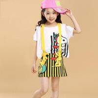 Teenage Girls Dresses Fashion 2014 New Baby Child Princess Two-Piece Dress Cartoon 2PCS Set Dress
