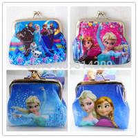 New Arriving! Mix 4 Frozen Designs Cartoon PVC Waterproof Coin Purse, Key Holder, Small Wallet Pocket, Kids Gift,  12pcs/lot